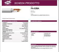 CAVO ALLARME 2x0.22 mm²  RAME SCHERMATO ANTIFURTO SORVEGLIANZA 25 MT ITC CAVI
