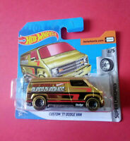 HOT WHEELS - CUSTOM 77 DODGE VAN - SUPER CHROMES - SHORT CARTE - FYG83 - R 5965