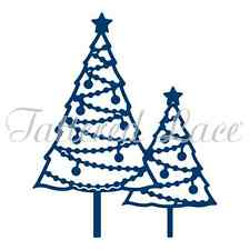 """Tattered Lace Dies ~ Pearl Christmas Trees, 2.83"""" x 3.46"""" TTLD1342 ~ NIP"""