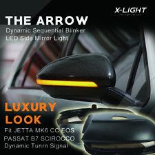 Dynamic LED Mirror Turn Signal Light For VW Passat B7 CC Scirocco Jetta MK6 EOS