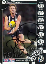 ✺Signed✺ 2013 COLLINGWOOD MAGPIES AFL Card DALE THOMAS