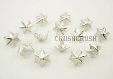 50pcs 15mm Silver Star JEWISH Hexagon Studs Spots Spikes Nailheads Prongs S052