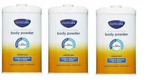 Cuticura Mildly Medicated Talc Talcum Powder Skin Soothing 150 g - Pack 3