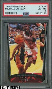 1998 Upper Deck #230w Michael Jordan Chicago Bulls HOF PSA 6 EX-MT