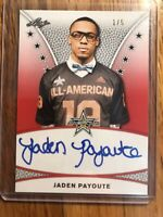 Jaden Payoute 2019 Leaf All American Red Tour Auto 1/5 Virginia Tech
