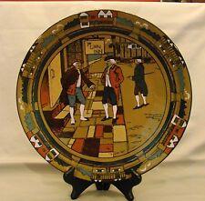 Artist Signed Buffalo Pottery Deldare Ye Lion Inn Charger 1909