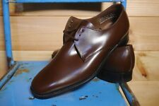 Vtg Deadstock Savile Row Brown Gibson Shoes Uk 7.5 Wide