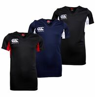 Boys Canterbury Rugby VapoDri Short Sleeve Jersey Top Sizes Age from 4 to 15 Yrs