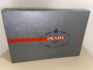 Prada Empty Storage Shoe box. Silver. 12x8x4.5.