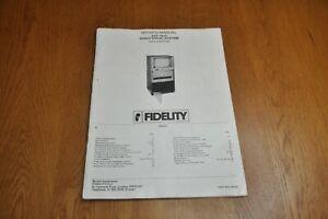 Fidelity AVS 1600 Audio Visual System Genuine Service Manual