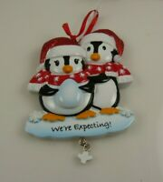 New baby Christmas ornament Penguin we're expecting