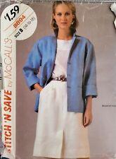 Vtg McCall's stitch 'n save pattern 8894 Misses Jacket & Skirt sz 14,16,18 uncut