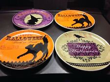 Halloween Witches Brew Set 4 Plates Original Box Pre-owned