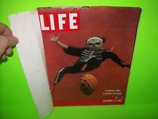 Life Magazine October 31, 1960 HALLOWEEN Cover Ghosts Goblins Skeletons Costumes