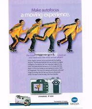 2002 MINOLTA Dimage F100 Camera Digital Point and Shoot Vtg Print Ad