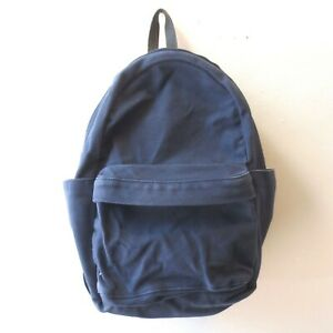 MAKR Handmade Navy Blue Canvas Padded Strap Classic Backpack 1122CJ