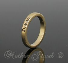 YELLOW GOLD GP LADIES GIRLS DREAM ETERNITY STACKABLE STACKER RING SIZE 8 P