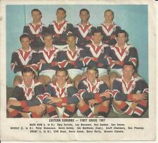 1967 EASTERN SUBURBS ROOSTERS DAILY MIRROR TEAM CARD