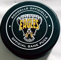 CAPE BRETON SCREAMING EAGLES  OFFICIAL GAME PUCK LHJMQ QMJHL MADE IN CANADA