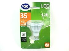 Great Value LED Light Bulb 7W 35W Equivalent Dimmable Soft White GU10 MR16 C3