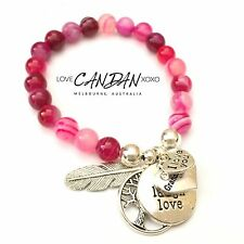 I Love You Granddaughter Bracelet Live Love Laugh Angel Feather Tree Of Life