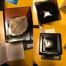 RARE  Wendell August Forge Purple Autumn Leaf Tealight Votive Holder-Original Bx