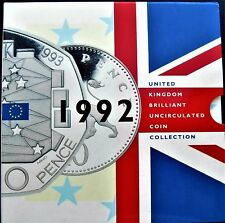 UK Elizabeth II 1992 Uncirculated Coin Set Includes EEC 50p... Ideal Gift