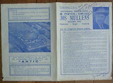 NATIONAAL NEDERLANDS 3 PISTES -CIRCUS JOS MULLENS SEIZOEN 1955 PROGRAMMA SIGNÉ
