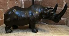 Small Standing Rhino - Hand Made - Covered in genuine Leather