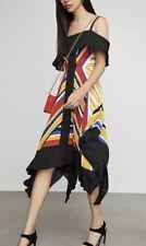 bcbg maxazria Strappy Handkerchief Stripe Dress XL