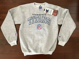 VINTAGE DEADSTOCK TENNESSEE TITANS CHAMPION CREWNECK SWEATSHIRT YOUTH L NFL NOS