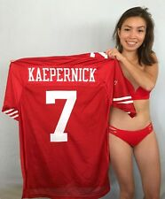 Colin Kaepernick San Francisco 49ers authentic Reebok stitched red ROOKIE jersey