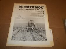 PY31) Bush Hog Sales Brochure 4 Pages - VT 4-12 Vibratine Cultivator