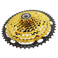 VG Sports MTB 10 Speed Cassette 10S 11-50T Gold Freewheel Sprocket for Shimano