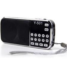 Black Portable LCD Digital USB TF AUX Mp3 Music Player Radio Speaker