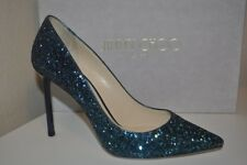 NIB Jimmy Choo ROMY 100 Pointy Toe Pump Heel Shoes Peacock Navy 36.5 - 6