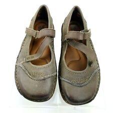 KALSO EARTH SHOE Womens Nexus Dark Oatmeal Burnished Leather Mary Janes US 5B