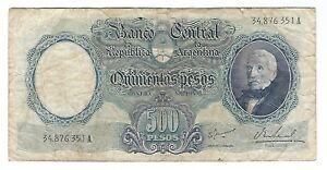 Argentina - Five Hundred (500) Pesos, 1964-69