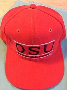 Oklahoma State University Cowboys Red Snapback Hat The Game Split Bar