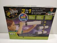 NEW Edu Science 3-in-1 Telescope Builder Ages 6+