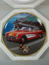 Classic 1957 Corvette Plate By Donald Wieland Franklin Mint