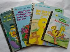 Lot of 4 Little Golden Books Big Bird's Sesame Street What's up in the Attic