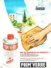 PUBLICITE ADVERTISING 124  1962  FLAMBO   nettoyant vitres chromes PRIM'VERRE