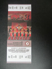 2008 Alabama vs Arkansas Football Ticket Official Reproduction