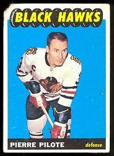 1965 66 TOPPS HOCKEY #56 PIERRE PILOTE VG CHICAGO BLACK HAWKS CARD