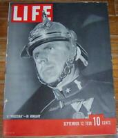 Life Magazine September 12, 1938  Prussian in Hungary on the Cover/Polaroid