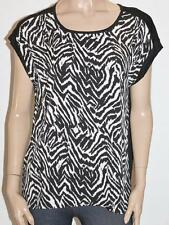 TARGET Brand Black White Silky Animal Front Tee Size L BNWT #sT39