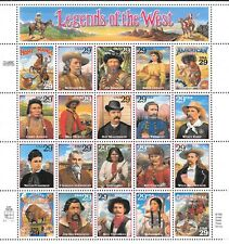 Scott # 2869 - Legends of the West - Sheet of (20)  29 Cents Stamps