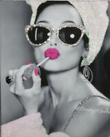 """Girls Night In"" Glamour Glitter Audrey Hepburn  PRINT PICTURE ONLY. No Frame."