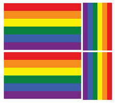 4 x Arcobaleno Orgoglio Bandiera GAY LGBT Vinile Auto Furgone iPad Laptop Adesivo